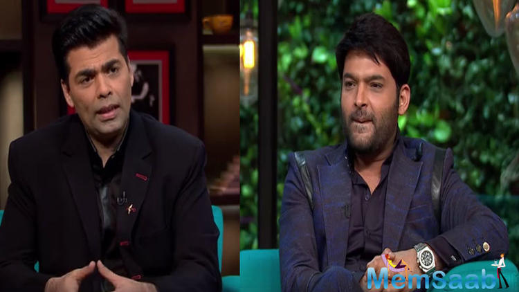 Kapil brilliantly tackled Karan's tricky questions on the show and had witty responses to most of them.