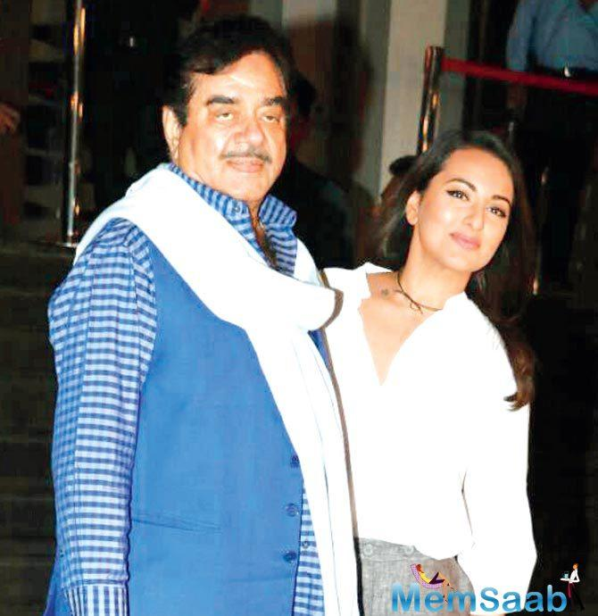 Shatrughan couldn't take it up due to date issues. Sonakshi says,