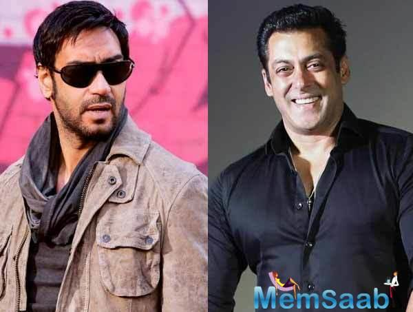 But there is a catch to this story, Salman Khan, who is good friends with Ajay since their 'Hum Dil De Chuke Sanam' days.