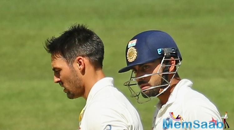 Johnson added, The only problem was that Virat was in the way. He got hit in the back and I apologized straight away.