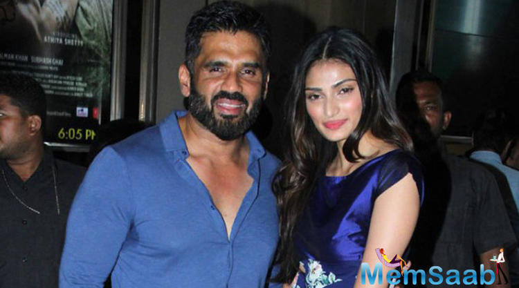 Suniel Shetty is happy with the professional choices that his daughter Athiya is making.