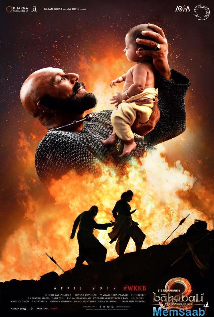 The makers had even revealed a poster featuring Katappa and Baahubali in two different situations.