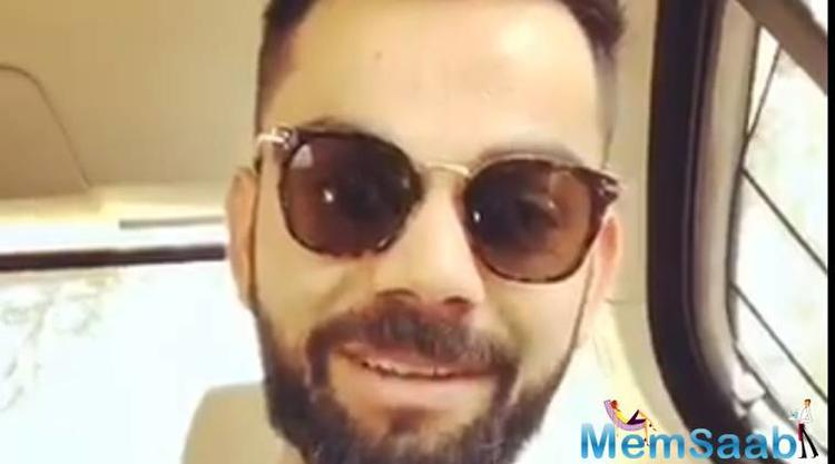 Kohli took to Twitter on Monday to wish his fans and followers a Happy Holi.