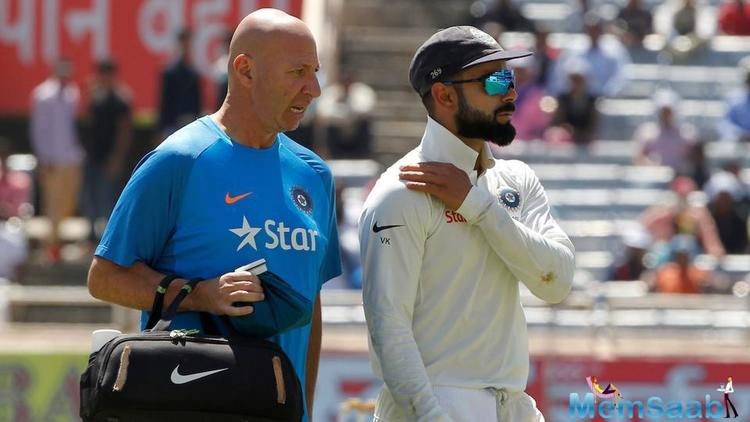 During fielding of the third Test against Australia, in Ranchi Virat Kohli injured his shoulder and he has been immediately rushed to a local hospital.