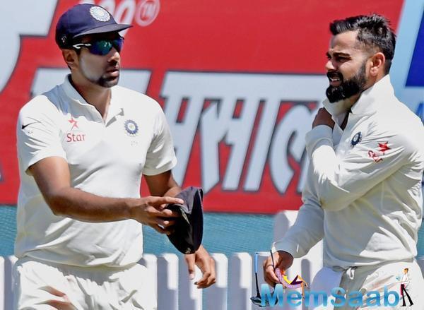 The latter struck Ravindra Jadeja on the leg side, as the ball raced past Kohli, and hurtled towards the boundary.