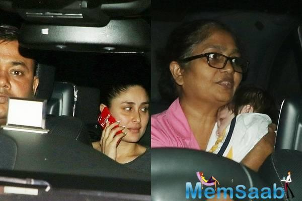 Recently, Mommy Kareena Kapoor Khan takes baby Taimur for a cute night out!