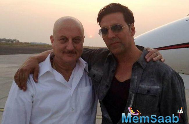 Veteran actor Anupam Kher has Akshay Kumar to thank for his fitter frame.
