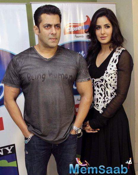Salman and Katrina were in a relationship before and there have been reports that the two are rekindling their romance on the sets on the film.