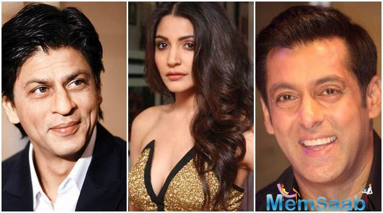 She made her debut with Shah Rukh in 'Rab Ne Bana Di Jodi,' went on to star opposite Aamir Khan in 'PK' and Salman in last year's blockbuster 'Sultan'.