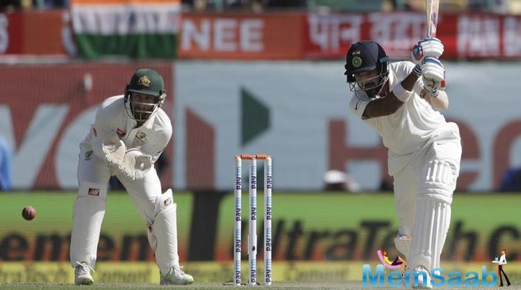 Spinner Nathan Lyon was the pick of the bowlers, as Australia removed the Indian top order, with six wickets.