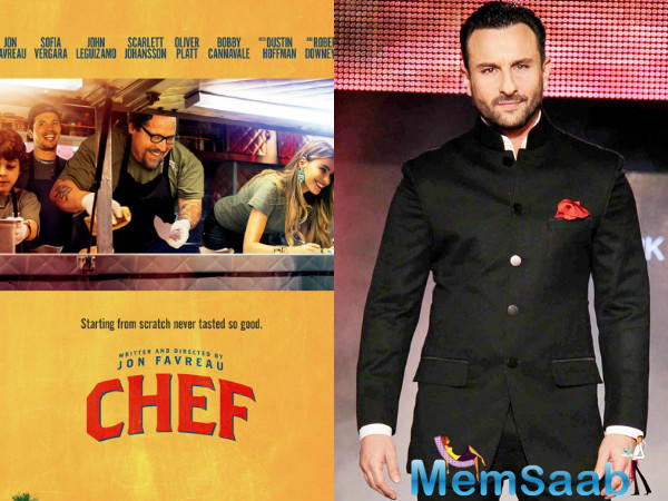 The film is produced by Bhushan Kumar and Vikram Malhotra, the team shot the film's opening scenes, which showcase Saif's character's life as a professional chef.