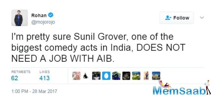 Due to Sunil Grover and Kapil Sharma fight, Grover quit the Kapil Sharma show.