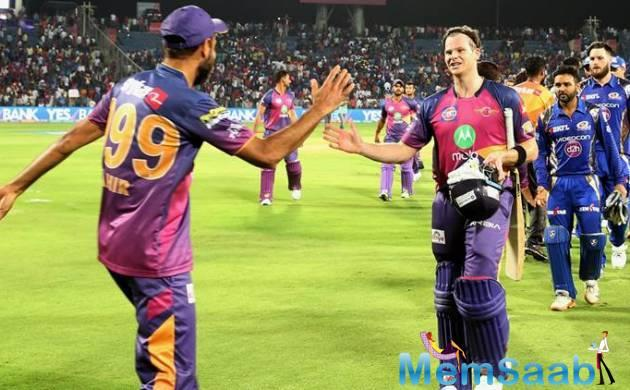 Ajinkya Rahane earned 60 runs from 34 balls had gotten RPS off to a great start, belting the Mumbai Indians bowlers all over the park.