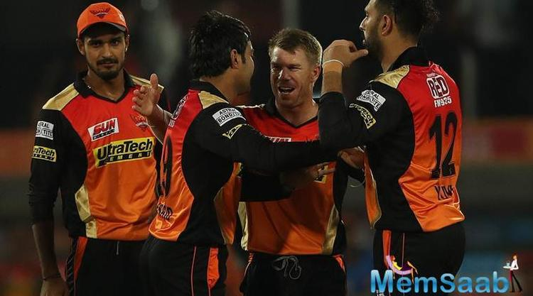 It was Rashid's 3 for 19 that helped Sunrisers restrict Lions to a paltry 135 for 7 in 20 overs and then Warner blasted his way to an unbeaten 76 off 45 balls to finish the match in 15.3 overs.