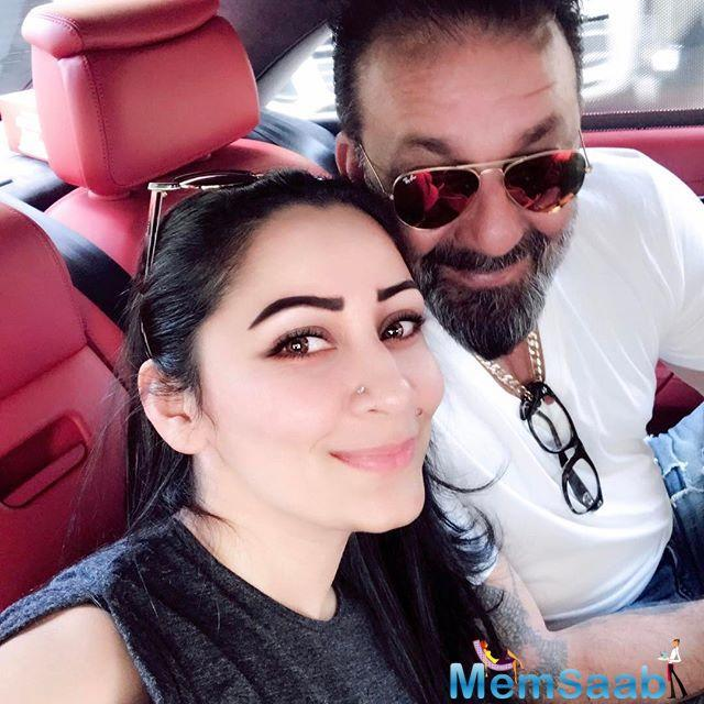 The couple looks absolutely in love, Maanayata wants a perfect caption for her love story with Sanjay Dutt