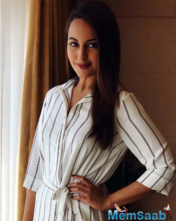 "Sonakshi might be playing a journalist in Noor, but she laughs when she says, ""During my childhood days, we were asked to read newspapers to improve our vocabulary, but reading newspapers was never my cup of tea!"""