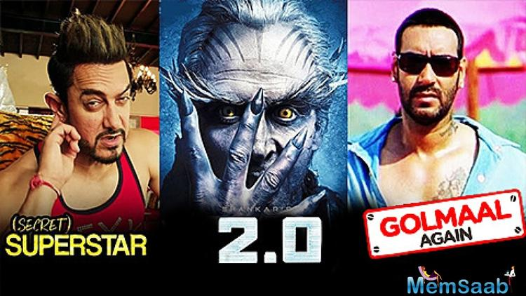 This Diwali, the battle gets more spectacular with three great releases.