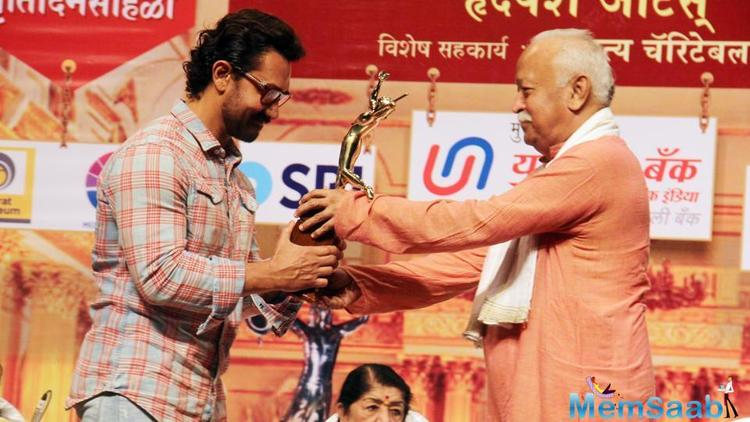 'Mohan Wagh Award' for best drama was presented to Sunil Barve for