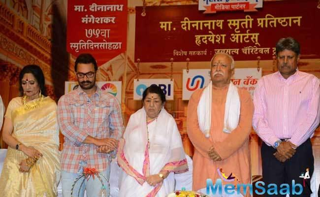 Aamir  was honoured with the 75th Master Dinanath Mangeshkar Award for his blockbuster