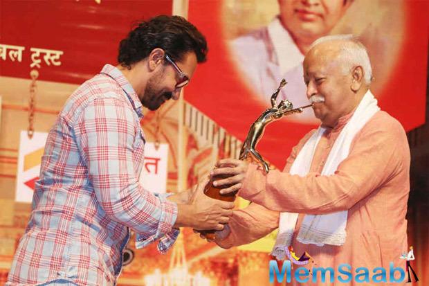 Legendary singer Lata Mangeshkar was also present at the event, organised by Master Dinanath Smruti Pratishthan and Hridayesh Arts.