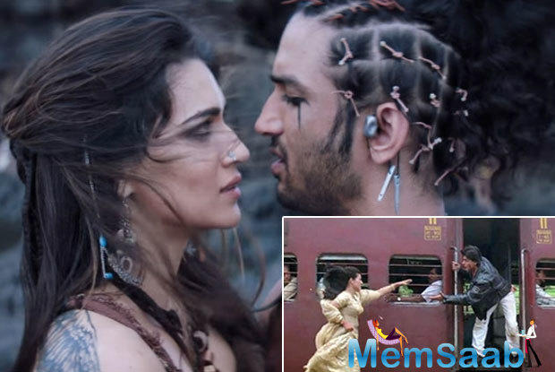 Kriti was shot running in slow motion as Sushant was aboard a train that started leaving the station.