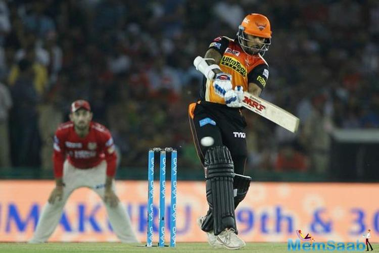 Sunrisers Hyderabad defeated Kings XIPunjab by 26 runs in Mohali
