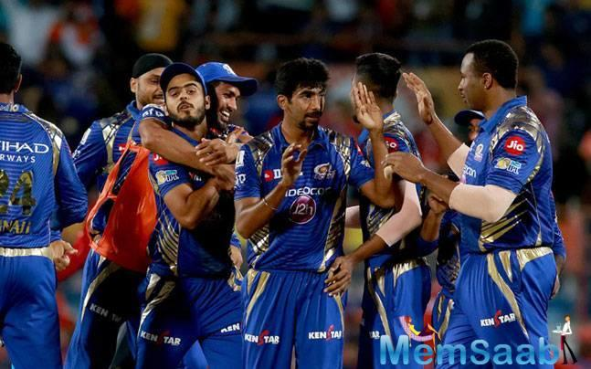 Jasprit Bumrah defended 12 in the one-over shoot-out to give MI their seventh win of the season