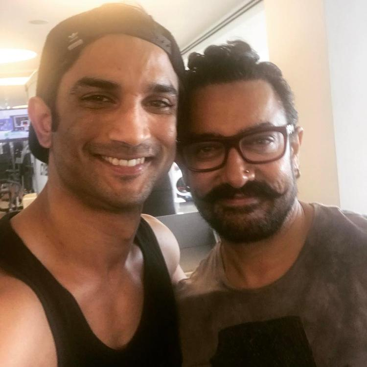Sushant Singh Rajput shares a sweaty gym selfie with Aamir Khan