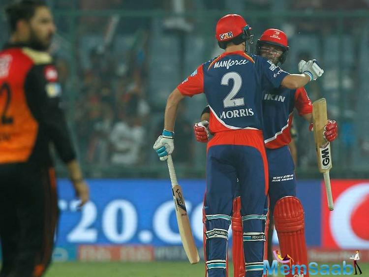 Delhi Daredevils beat Sunrisers Hyderabad by six wickets in their IPL 2017 match at the Feroz Shah Kotla Stadium in New Delhi today.