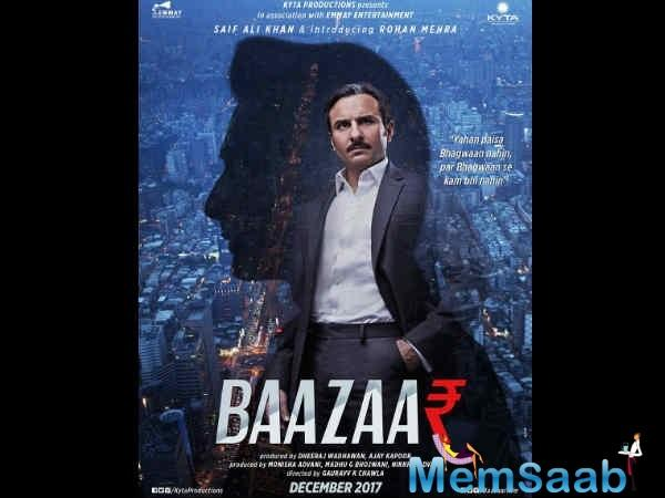 This film is directed by Gauravv K Chawla, 'Baazaar' revolves around Indian stock marke.