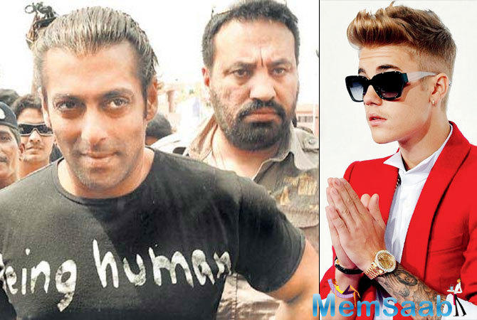 Bollywood superstar Salman Khan's bodyguard Shera has been roped in to handle the security for the Jio Justin Bieber Purpose World Tour.