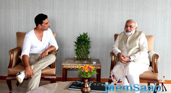 National Award winning actor Akshay Kumar on Tuesday put a smile on Prime Minister Narendra Modi's face with the title of his next film Toilet: Ek Prem Katha.