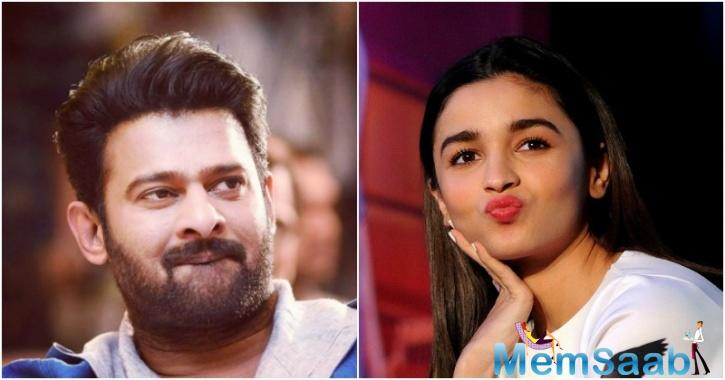 Alia spoke about Prabhas while chatting with her lovers on Twitter on Sunday.