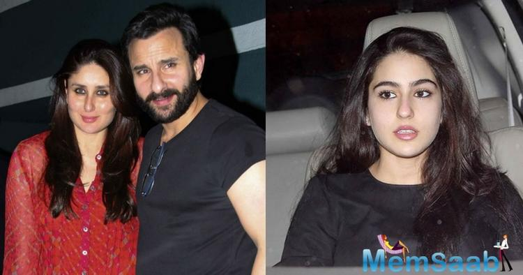 We hear that Saif and his ex-wife, Amrita Singh's daughter, Sara Ali Khan, convinced Bebo and her dad to let go off the no-kissing deal.