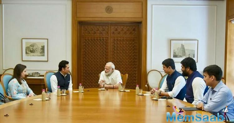 PM, Modi also tweeted about meeting Tendulkar, saying: The movie captures the cricket and personal life of the master blaster in detail, revealing aspects of his life, which have never been heard of or seen before.