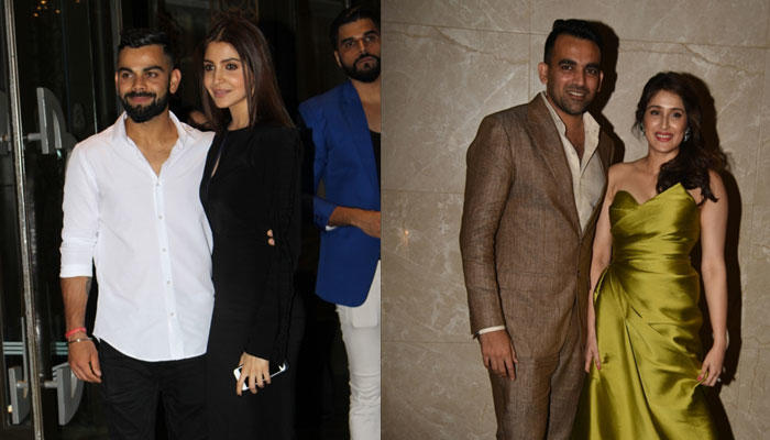 Anushka and Virat made heads go, once again, at the engagement ceremony of Zaheer Khan and Sagarika Ghatge that was held in Mumbai on Tuesday eve.