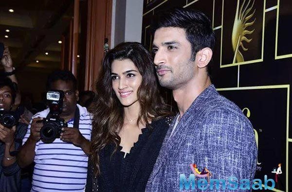 "Do link-up reports with co-stars affect her personal love life? Kriti laughs before answering this one and says, ""If I had a personal love life then the question of it getting disturbed would arise!"""