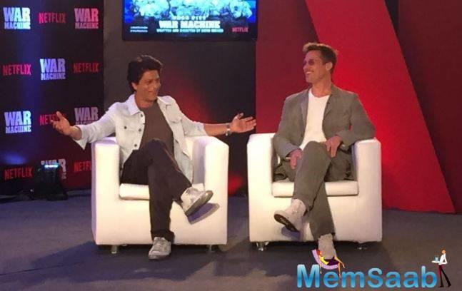 Recently, Hollywood superstar  Brad Pitt paid a visit to Mumbai to promote his upcoming flick.