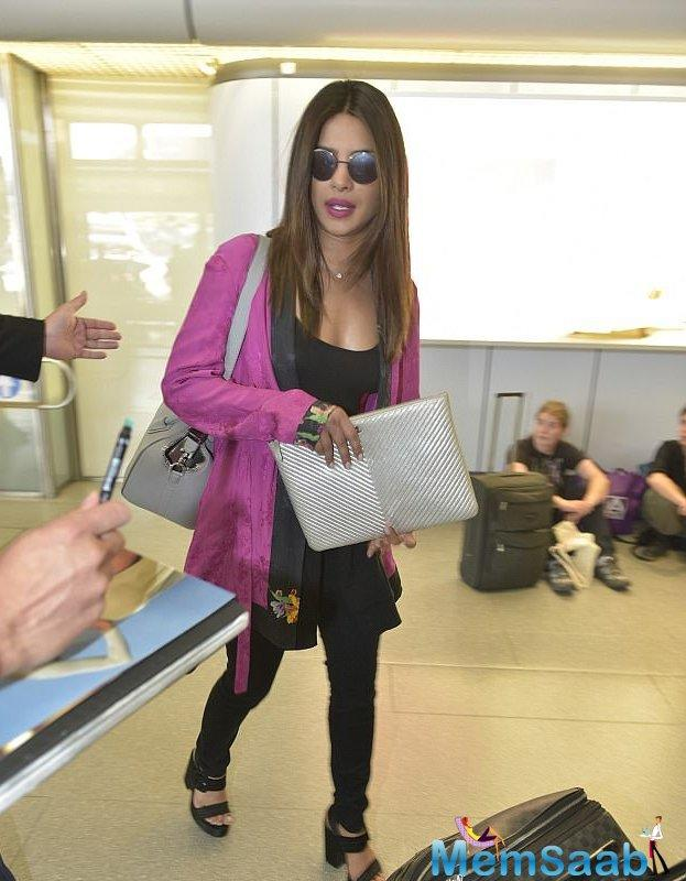 Priyanka Chopra has been living out of a suitcase for the last few months.