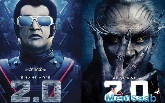 '2.0' happens to be a sequel to 2010 blockbuster 'Enthiran' starring Aishwarya Rai Bachchan and Rajinikanth in the lead.