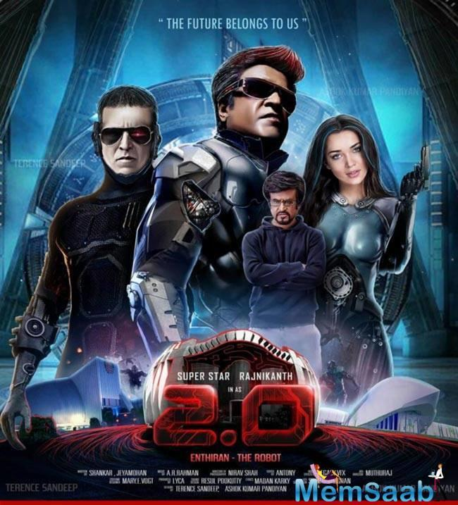The shoot of '2.0' is already over and currently post-production work is on.