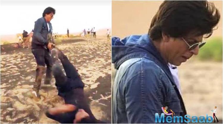 Shah Rukh was in Dubai for an interview and was maneuvering for a shoot in the desert with TV presenter Nishan, who was also required with the prank