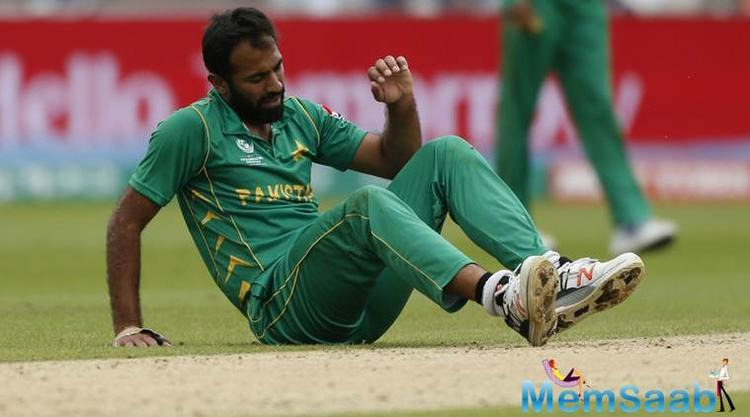 Pakistan, fast-bowler Wahab Riaz has been ruled out of the rest of the Champions Trophy one-day international tournament due to an ankle injury.