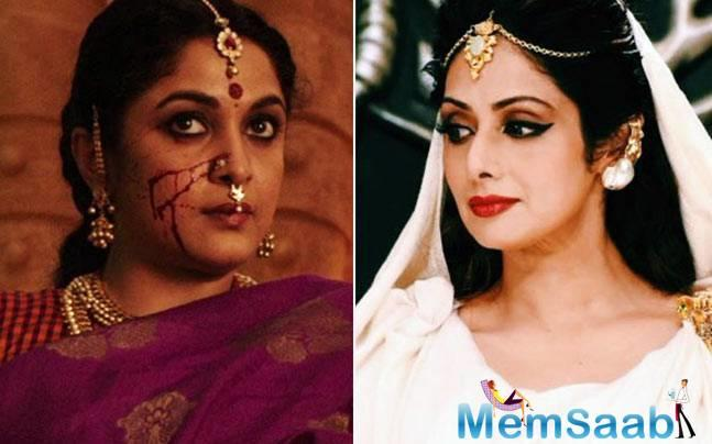 Earlier there was a report that, Sivagami character was first going to Sridevi.