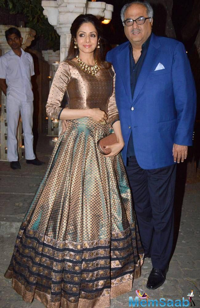 Her proud husband and producer of 'Mom,' Boney Kapoor, can't contain his joy.