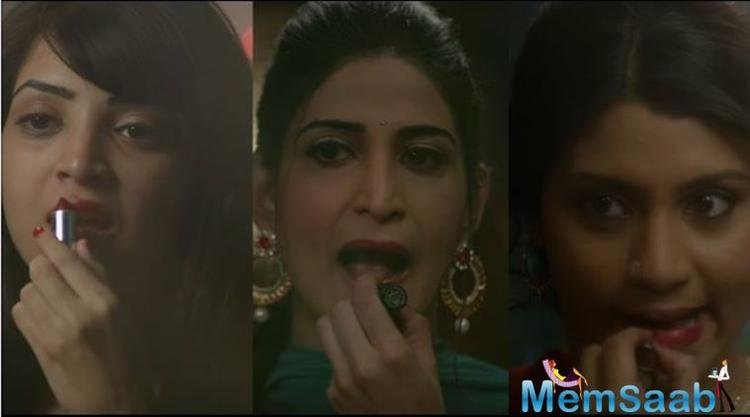 'Lipstick Under My Burkha' stands as a solid reference to how women are treated in general. It is the story of four women who rebel and escape their boring lives.