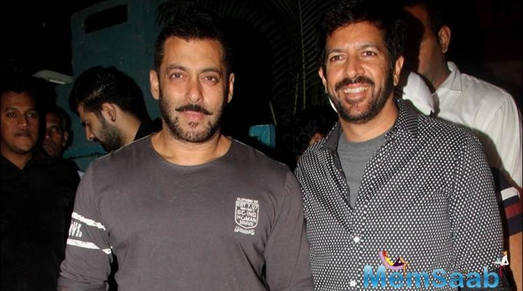 "The source continued, ""Kabir and Salman had already discussed another project during the making of 'Tubelight,' and that commitment remains unchanged."