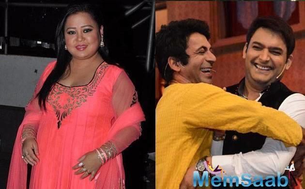 Earlier in the day, there was a news that  Bharti Singh is joining Kapil Sharma on The Kapil Sharma Show, which aired on Sony.