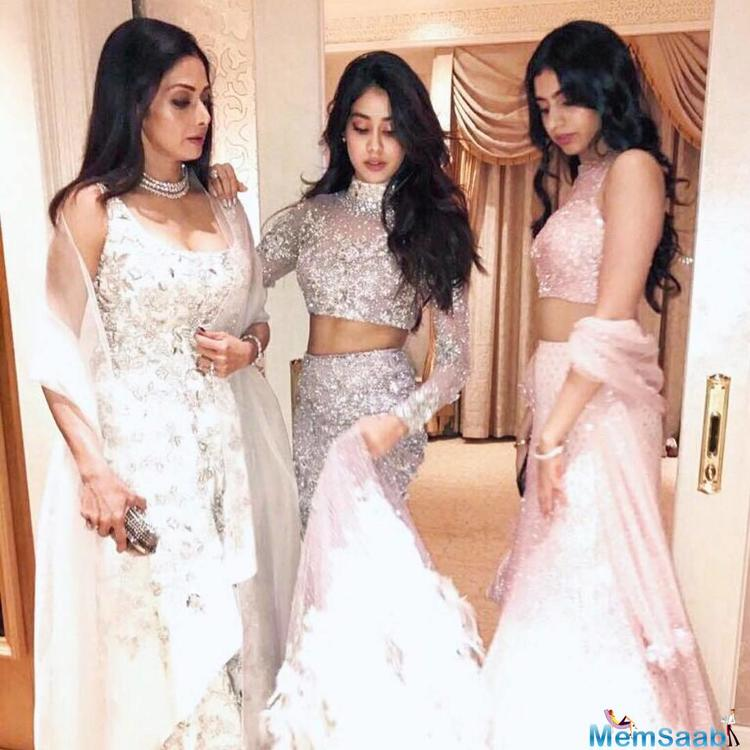 During the promotion of her upcoming movie Mom, Sridevi revealed, her daughters Jhanvi and Khushi are her fashion inspirations.