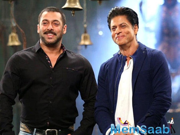 Shah Rukh Khan and Salman Khan, who have shot for a special song in the Aanand L Rai film, yesterday they had a share a selfie moment on the sets of Aanand L Rai film.